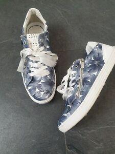 MARCO TOZZI Damen Sneaker Gr. 39 weiß blau Blumen TOP!!!