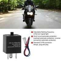 Electronic Flasher Unit Relay Indicators 12V For LED Light Turn Signal 3-Pin UK