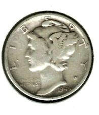 1945 S Mercury Dime, Silver, Circulated Coin, Finish Your Coin Book, #7530