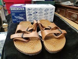 BIRKENSTOCK Super-Noppy Birko-Flor Light Brown Men's Sandals New in Box M 11
