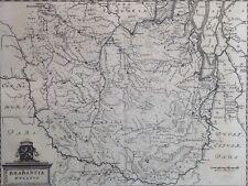 Antique map Brabant Belgique Bruxelles Antwerpen Merian 1659