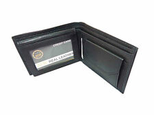Original Leather Money Wallet Purse for Men Gents with Card Slots - Black