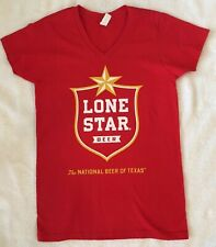 Lone Star Beer Logo V-neck Size Small Cotton Shirt