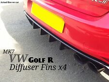VW GOLF VII MK7 R Facelift Gloss Black Rear Splitter Diffuser fins/diffuser fins