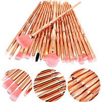20PCS Diamond Makeup Brushes Set Foundation Powder Blush Eyeshadow Brush Tools