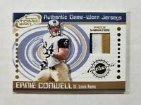 2001 Prism Atomic Authentic Game Worn Jersey 3 Color Patch Ernie Conwell