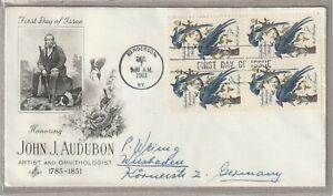 "Ersttagsbrief FDC USA ""Honoring John J. Audubon -Gedenken"" Henderson 1963 Marken"