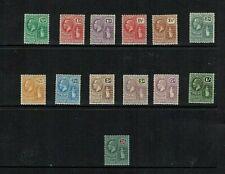 British Virgin Is:1922 King George V definitive, new design, part set, Mint