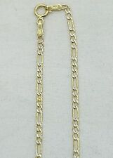 "14k yellow gold chain Figaro Diamond cut 22"" 2 mm"