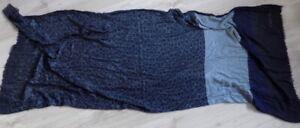 CALVIN KLEIN Beautiful Vintage Scarf Navy blue