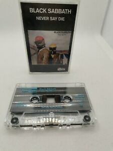 Black Sabbath - Never Say Die - Cassette Tape