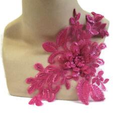 Hot Pink Lace Applique 3D Sequin #17 Aussie Seller Tutu Dance Costume Trim
