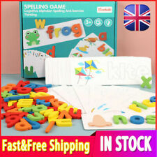 Wooden Alphabet Letter Learning Cards Set Word Spelling Practice Game Toy Gifts+
