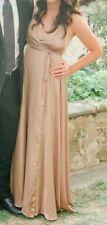 Fame and Partners V-Neck Cross Back Wrap Dress, dark tan, size US 2,