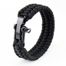 Paracord Survival for Man Emergency Rope Outdoor Wide Bracelet Stainless Steel