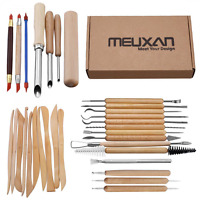 31PCS Clay Wax Carving Pottery Sculpting Kit Tools Shapers Polymer Modeling USLH