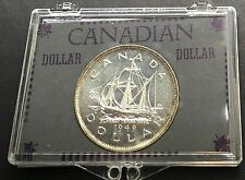 Canada 1949 Silver Dollar Encased Commemorative Newfoundland Ship Stocking Gift