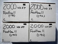 2000 Upper Deck SP Authentic Football Base Set Lot (4 Sets, 90 Cards Each) Mint
