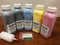 5 Toner Refill for Konica Minolta Bizhub C25 + 5 Chip (TNP27) (C25 - ONLY !!!)