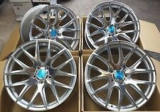 """18""""3sdm 0.01 alloy wheels silver pol bmw with tyres 3 series dare wider rear"""