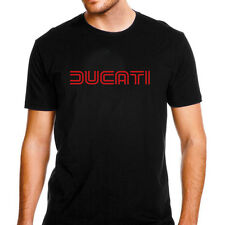Genuine Official Ducati Red Racing Superbike Motocross SBK Black Men Tee T-Shirt