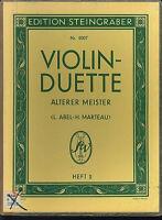 Violin-Duette älterer Meister Heft 2 - herausgegeben von ABEL / MARTEAU