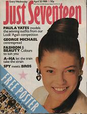 Just Seventeen Magazine 20 April 1988   George Michael   Paula Yates   A-Ha