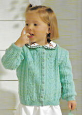Toddler cardigan knitting pattern 12mths -3 years 3 ply 174