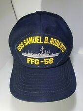 USS SAMUEL B. ROBERTS FFG 58 HAT Adjustable Snapback Hat Navy Cap