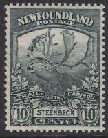 NEWFOUNDLAND 122 1919 10c DARK GREEN STEENBECK TRAIL OF THE CARIBOU MNH XF CV$60
