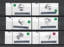 "France 1993. Complete Series 6 new stamps **. ""Celebrated writers""      (6153)"