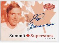 MINT! 2004-05 UD LEGENDARY SIGNATURES SUMMIT SUPERSTARS NO. CDN-RB RED BERENSEN