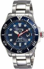NEW Seiko Prospex PADI SNE435 Stainless Steel Blue Dial Mens Solar Diver's Watch