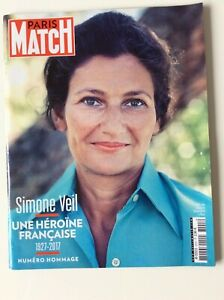 Simone Veil- Magazine Paris Match 07/2017