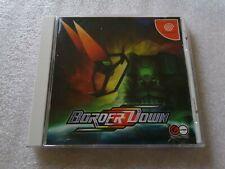 Border Down Sega DREAMCAST Classic Shoot-em-up Complete With Spine Card JAPAN...