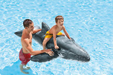 Intex Giant Inflatable Whale Ride On Beach Toy Swimming Pool Float Aid Lilo