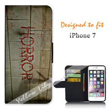 Apple iPhone 7 Wallet Flip Phone Case Cover Blood Horror Y00752