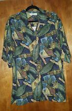 Tommy Bahama Silk XL Button Down CIGAR Camp Shirt cigars Stogies Hawaiian