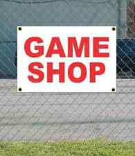 2x3 GAME SHOP Red & White Banner Sign NEW Discount Size & Price FREE SHIP