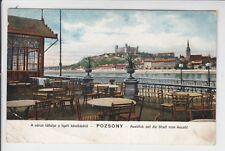 AK Bratislava, Pressburg, Stadt vom Aucafe, 1906