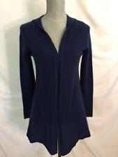 CYNTHIA ROWLEY 100% CASHMERE Hooded Cardigan Sweater M Medium NEW