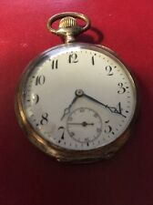 Sterling Silver Pocket Watch Case 1890's Engraved Stamped Large Working