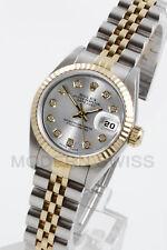 Rolex da Donna Datejust Oro & Acciaio Diamante Argento Scanalata Jubilee 2Tone