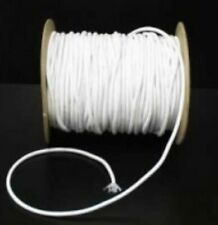 3mm White Extra Thick Round Corded Elastic - Sold by the Metre