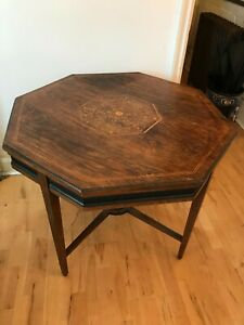 antique mahogany octagonal occasional table,rosewood verneer,