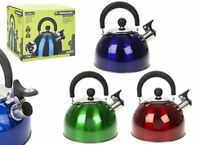 Summit 2.0L Whistling Kettle with Colour Coating Kitchenware - 1 Unit Red Kettle