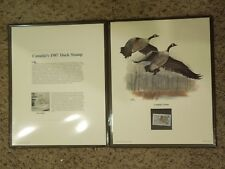 Canada's 1987 Duck Stamp Canada Goose Art Stamp Sighed Don Balke by Fleetwood