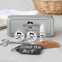 Beard Grooming Care Gift Set Tin   Balm, Wax, Oil, Comb, Scissors   Unscented