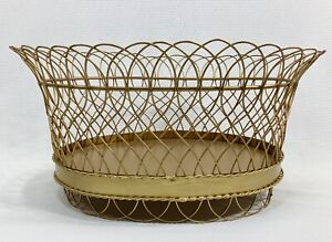 Large Antique Style Gold French Wire Planters by NAPA Home and Garden, Exc Cond