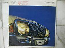 Ford Taunus 20M prestige brochure Prospekt Dutch text 20 pages 1965
